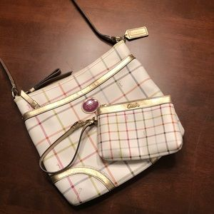 COACH Peyton Tattersall File Bag & Wristlet